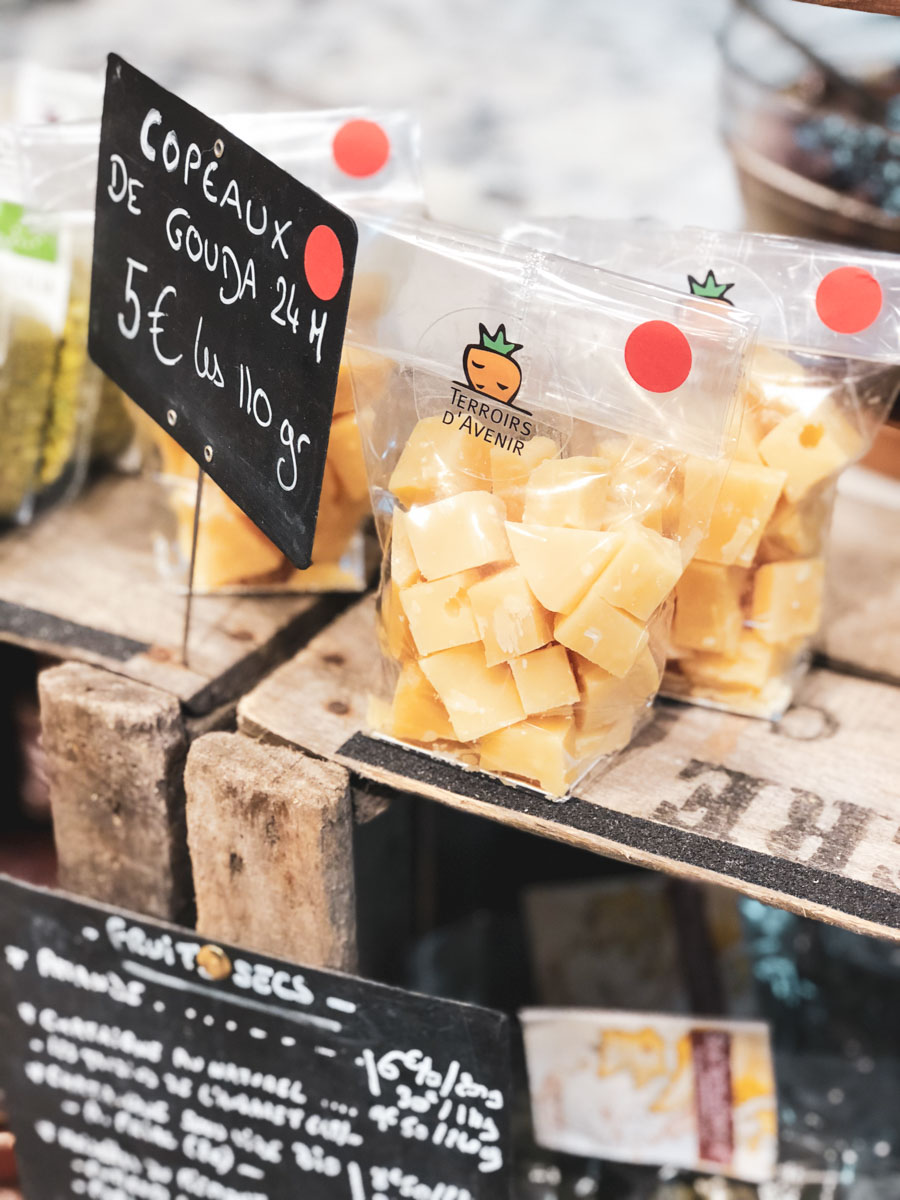 Our kids loved snacking on these little bags of cheese from local cheese shops in Paris.
