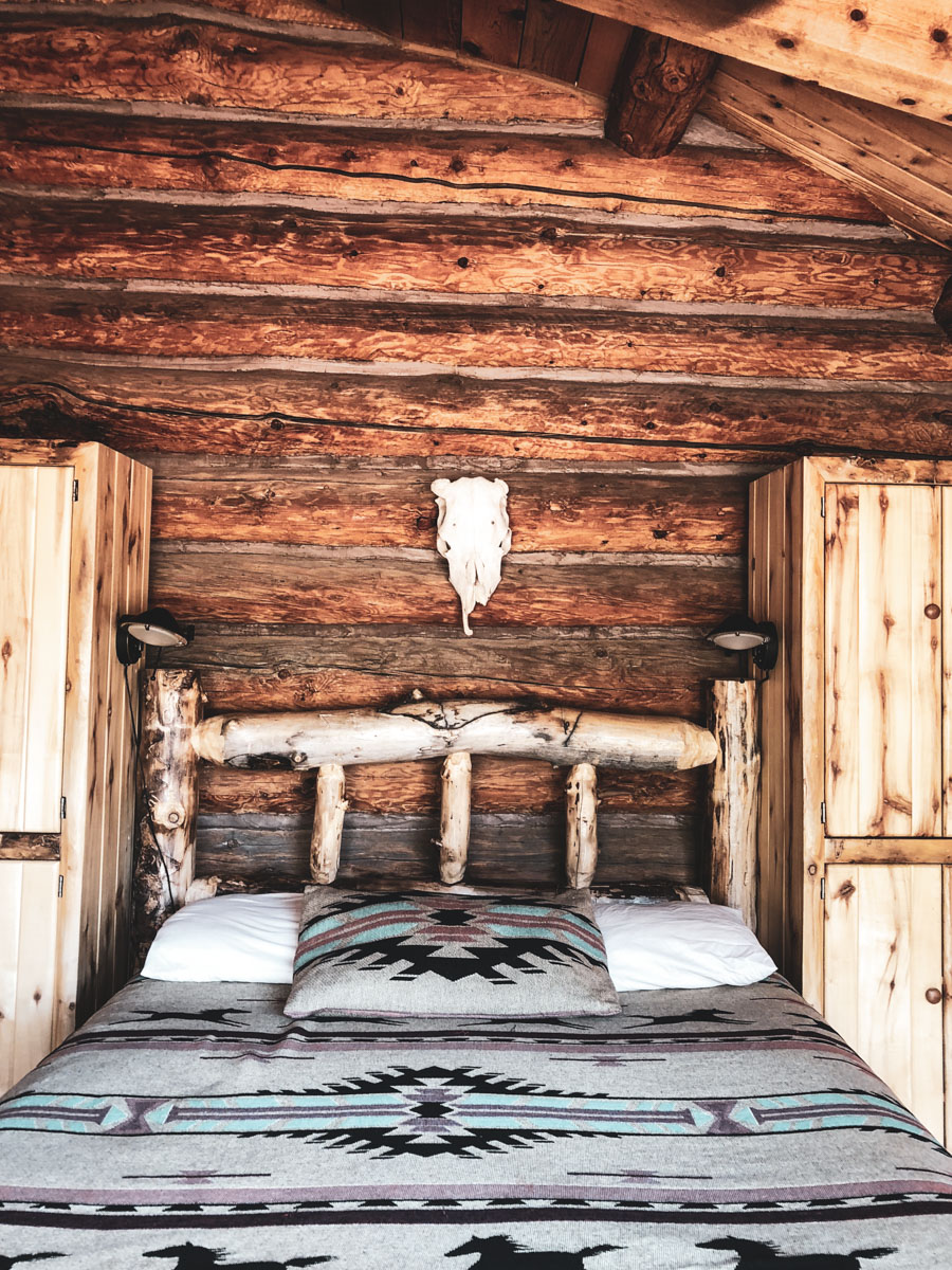 Rustic loding at Boulder Mountain Guest Ranch in Utah.