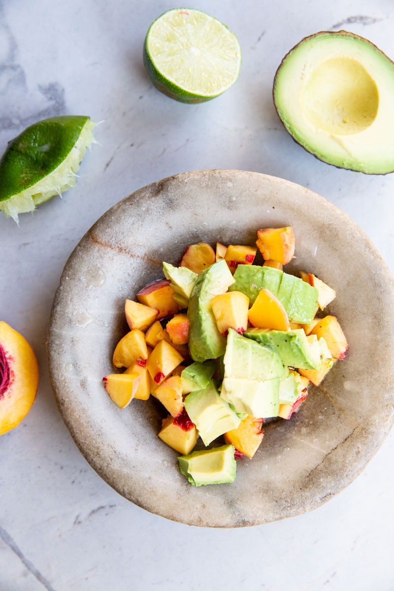 My whole family loves this peach and avocado salsa recipe!
